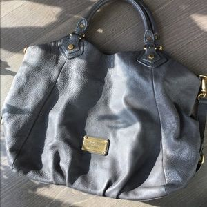 Marc by Marc Jacobs large grey leather tote